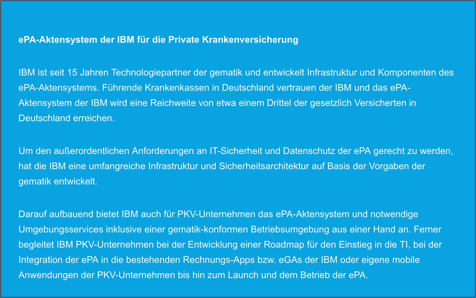 ePa Aktensystem der IBM