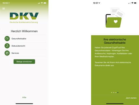 """Die neuen Funktionen der """"Meine DKV App"""""""